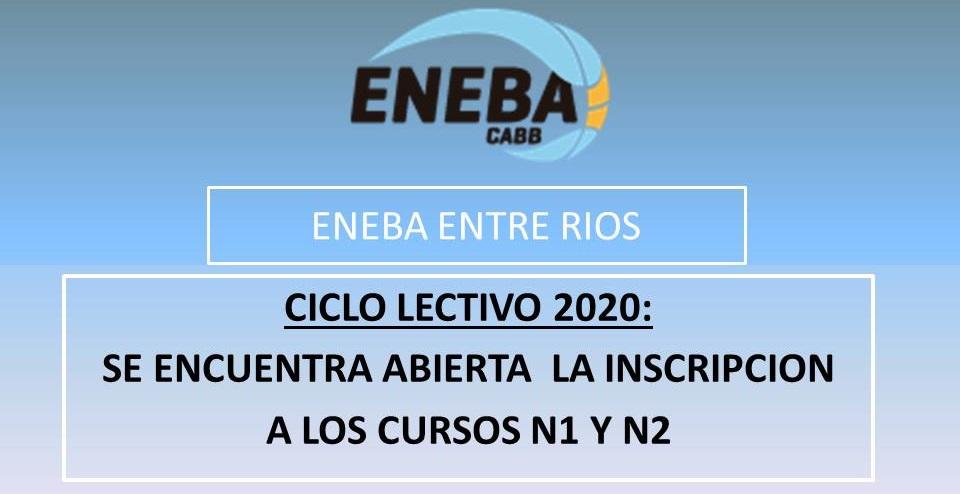 Información importante: Cursos ENEBA Nivel 1 y 2