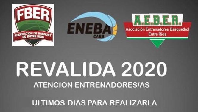 Últimos días para la Reválida ENEBA 2020