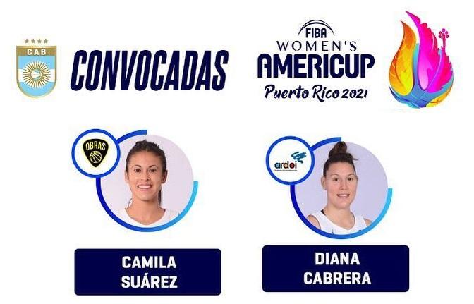 Camila Suárez y Diana Cabrera jugarán la Americup